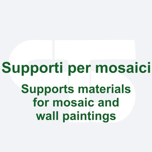 Support materials for mosaic and wall paintings