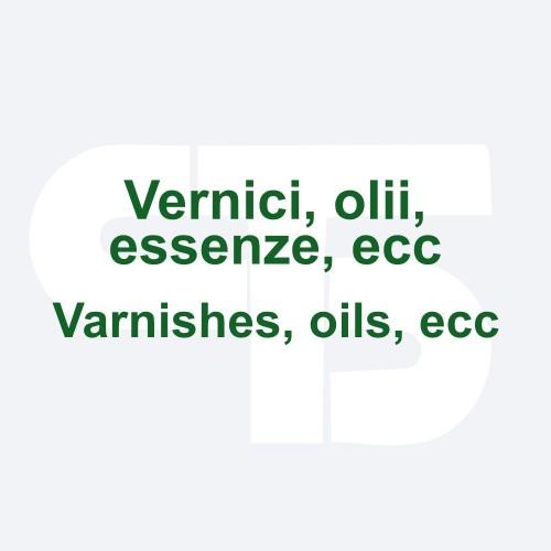 Varnishes, oils, etc.